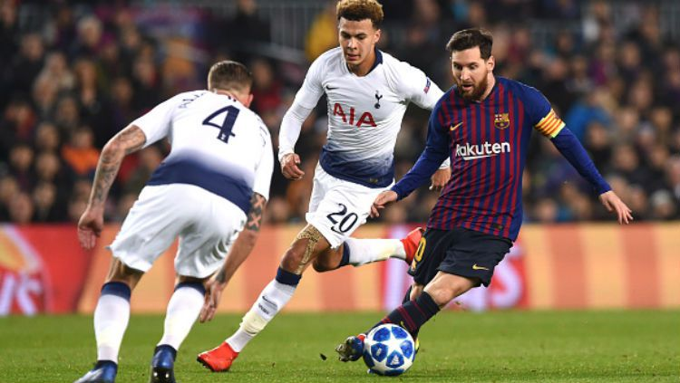 Barcelona vs Tottenham Hotspur. Copyright: © INDOSPORT