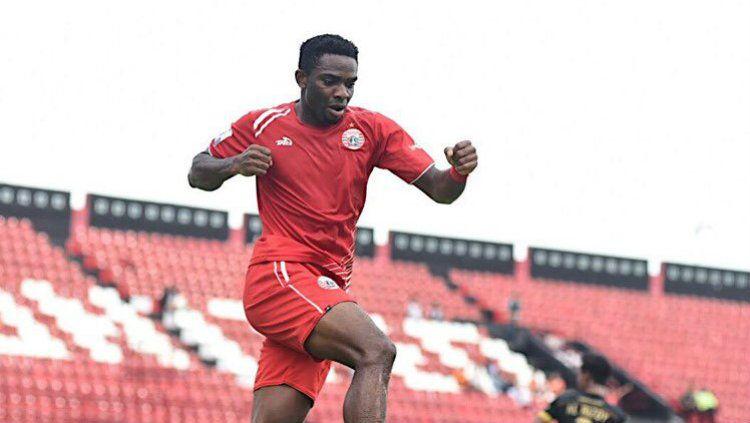 Osas Saha usai mencetak gol ke gawang Bogor FC di Piala Indonesia, rabu (12/12/18). Copyright: © twitter/persija_jkt