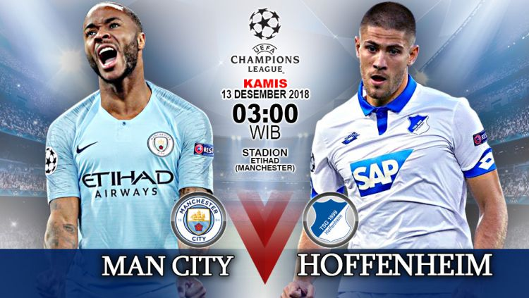 Pertandingan Manchester City vs Hoffenheim. Copyright: © Indosport.com