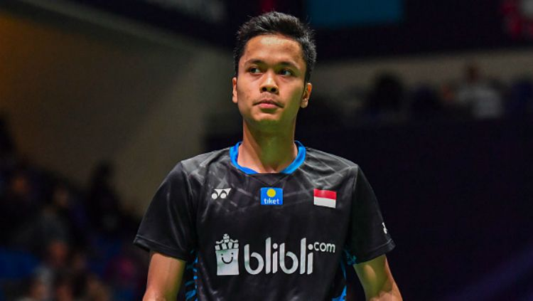 Anthony Ginting harus terhenti di babak pertama Badminton Asia Championship 2019. Copyright: © Getty Images