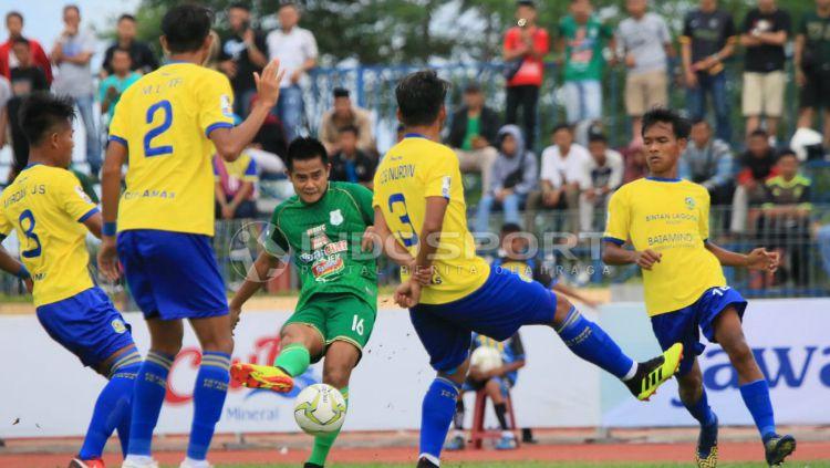PSMS Medan vs 757 Kepri Jaya FC di Piala Indonesia. Copyright: © Kesuma Ramadhan/INDOSPORT