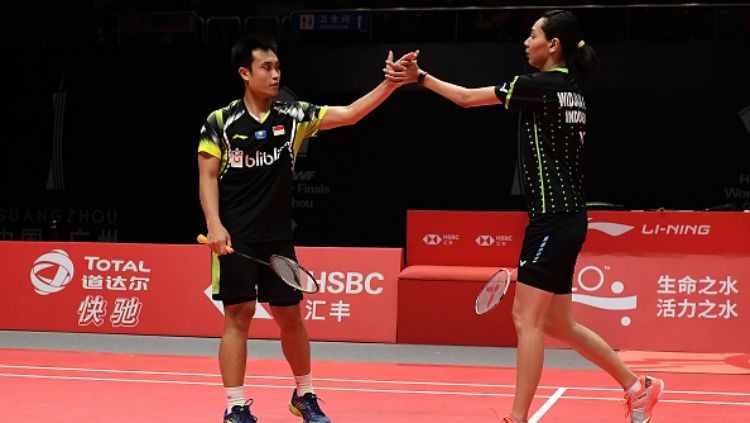 Hafiz Faizal/Gloria Emanuelle Widjaja di BWF World Tour Finals 2018. Copyright: © Getty Images