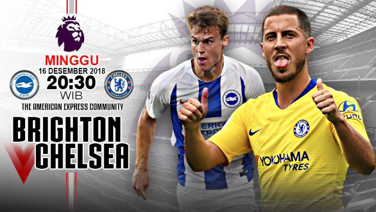 Pertandingan Brighton vs Chelsea. Copyright: © Indosport.com