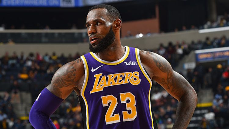 LeBron James, pemain megabintang LA Lakers. Copyright: © INDOSPORT