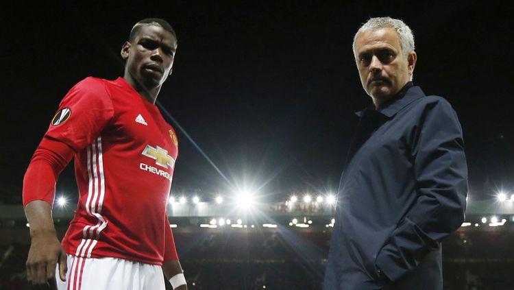 Jose Mourinho dan Paul Pogba Copyright: © Getty Images