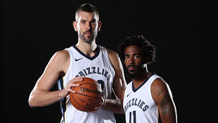 2 bintang Memphis Grizzlies, Marc Gasol (kiri) dan Mike Conley Jr. Copyright: © Getty Images