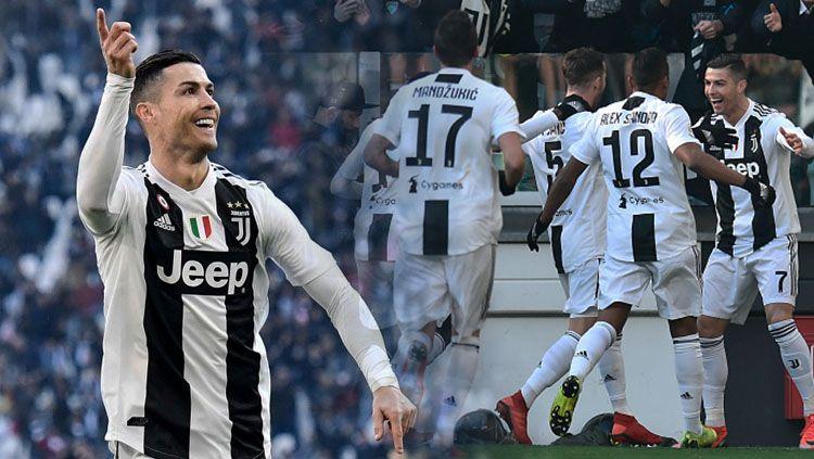 Juventus berhasil gunduli Sampdoria lewat gol Cristiano Ronaldo Copyright: © INDOSPORT