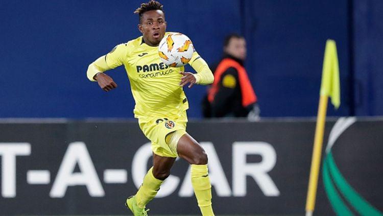 Winger Villarreal, Samuel Chukwueze, menegaskan dirinya merupakan penggemar Chelsea setelah namanya dikaitkan dengan kepindahan ke Arsenal Copyright: © Jeroen Meuwsen/Soccrates/Getty Images