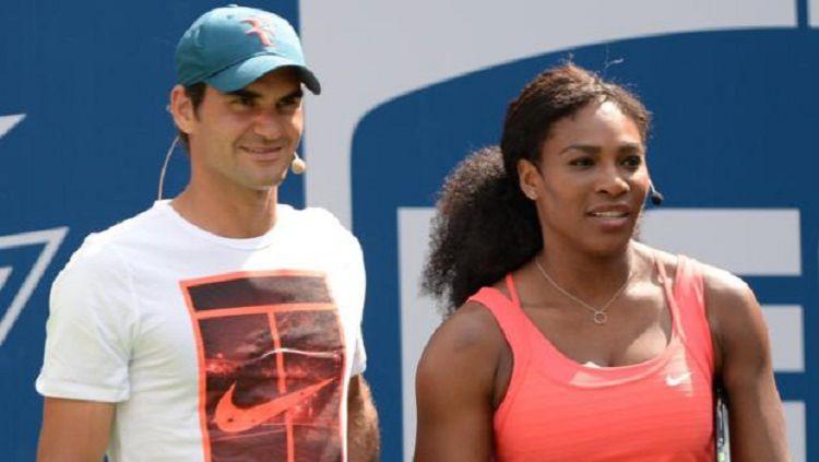Bentrokan pertama nan panas antara Roger Federer vs Serena Williams di ganda campuran Copyright: © BBC
