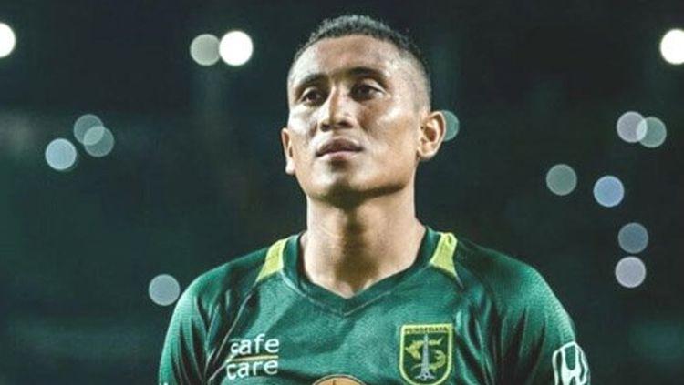 M Syaifuddin, bek Persebaya Surabaya. Copyright: © SURYAOnline/dya ayu