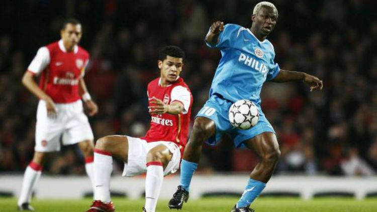 Arouna Kone saat membela PSV. Copyright: © Getty Images