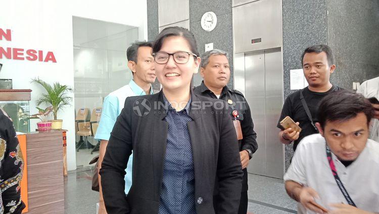 Asosiasi Kota (Askot) PSSI Makassar menyebut tiga syarat bagi siapa saja calon yang ingin menggantikan peran Ratu Tisha Destria sebagai Sekjen PSSI. Copyright: © Shintya Anya Maharani/Indosport.com