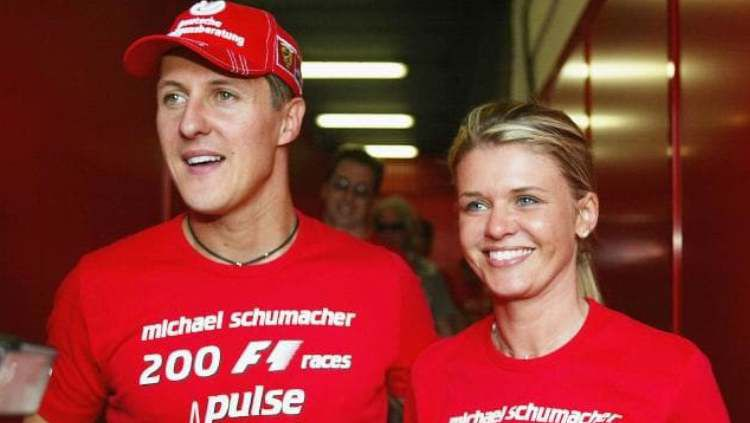 Michael Schumacher dan Istrinya, Corinna. Copyright: © News AU