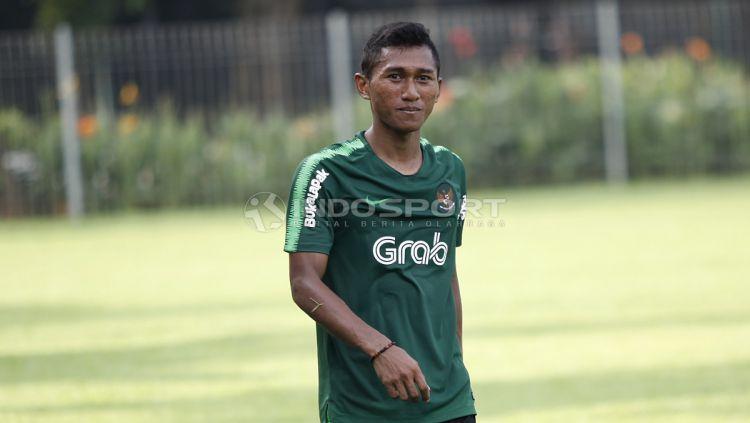 Anan Lestaluhu memilih mengundurkan diri dari Bali United dan rumornya kemungkinan bergabung dengan klub Liga 1 Bhayangkara FC. Copyright: © Herry Ibrahim/INDOSPORT