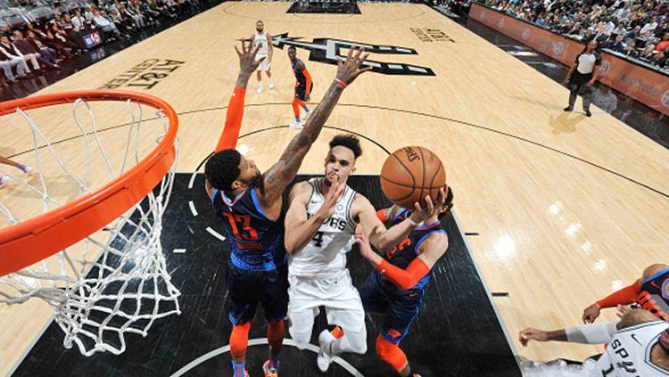 Derrick White (San Antonio Spurs), menjadi salah satu pemain yang dipromosikan ke Timnas Basket Amerika Serikat. Copyright: © Getty Images