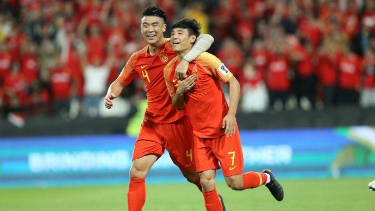 Selebrasi Pemain China di Piala Asia 2019 Copyright: © Twitter