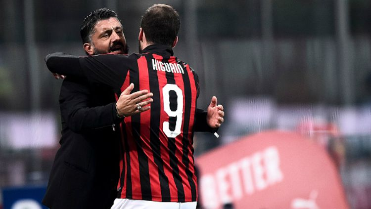 Gennaro Gattuso dan Gonzalo Higuain. Copyright: © Getty Images