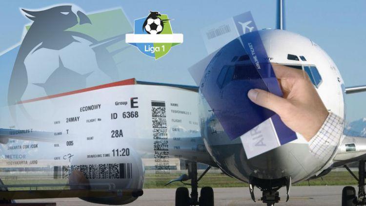 Harga tiket pesawat naik, akankah Liga Indonesia kembali dua wilayah? Copyright: © Indosport.com