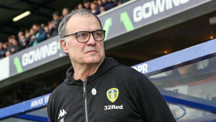 Marcelo Bielsa, pelatih Leeds United. Copyright: © Getty Images