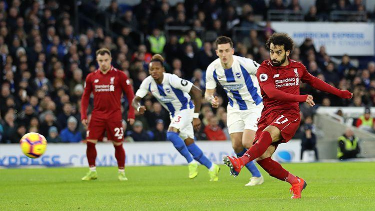 Mohamed Salah saat hendak melakukan eksekusi penalti Copyright: © Getty Images