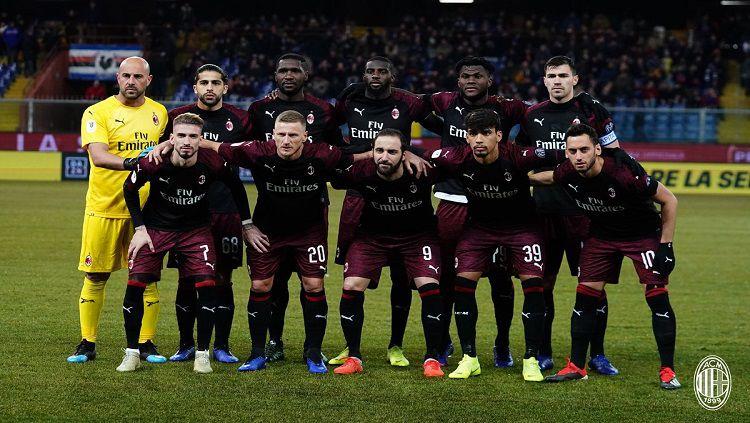 Skuat AC Milan. Copyright: © Twitter/@acmilan