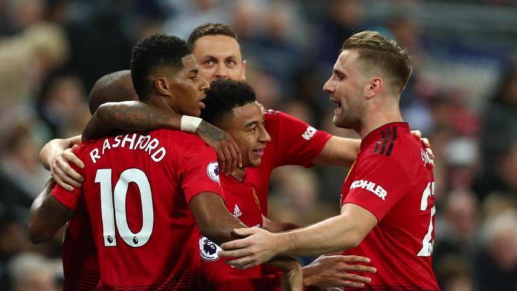 Skuat Manchester United mendapat sambutan spesial dari kota Perth dalam rangkaian tur pramusim ke Australia. Copyright: © Talksport