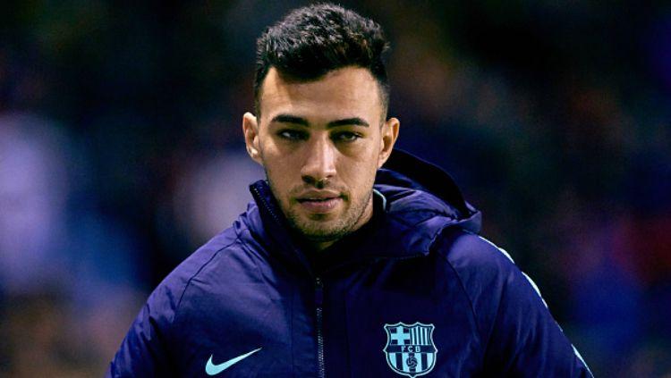 Mantan pemain Barcelona yang kini berseragam Sevilla, Munir El Haddadi, tampil tajam di Liga Europa 2019-2020 dengan koleksi lima gol hingga matchday keempat. Copyright: © INDOSPORT