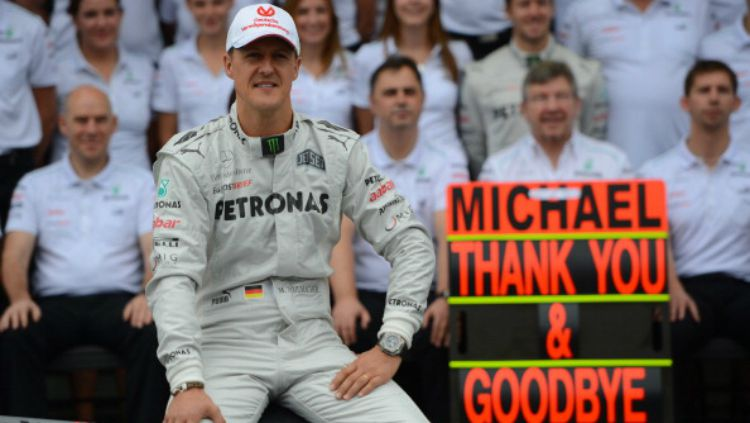 Michael Schumacher bersama tim Mercedes pada 2012. Copyright: © INDOSPORT