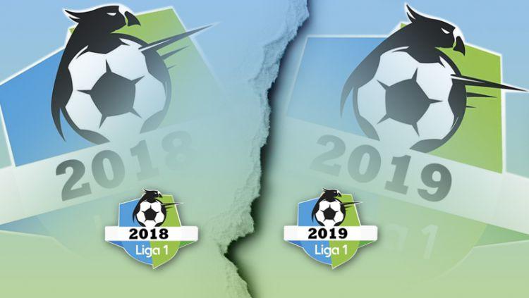 3 Perbedaan Peserta Liga 1 2018 dan 2019. Copyright: © Indosport.com