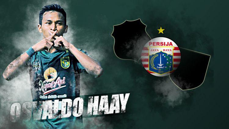 Osvaldo Haay dirumorkan bakal hijrah dari Persebaya Surabaya. Copyright: © Indosport.com