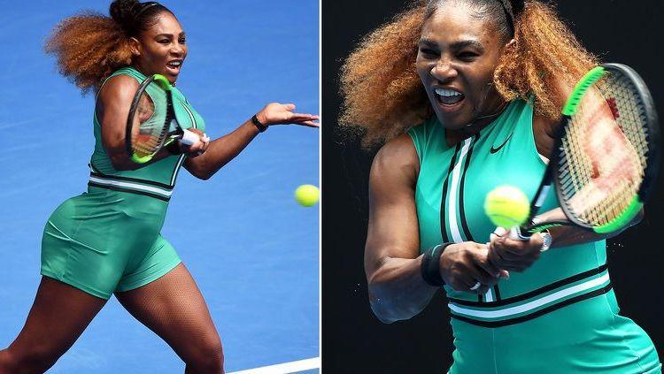 Kostum Serena Williams di Australia Terbuka 2019 Copyright: © Yahoo 7
