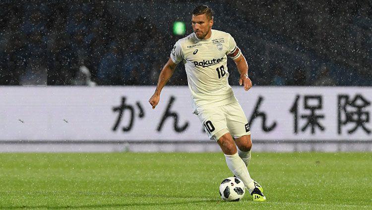 Lukas Podolski, pemain Vissel Kobe. Copyright: © INDOSPORT
