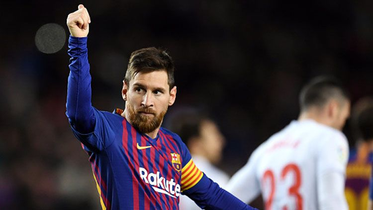 Lionel Messi, pemain megabintang Barcelona. Copyright: © INDOSPORT