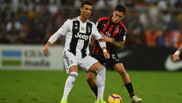 Cristiano Ronaldo saat pertandingan Juventus vs AC Milan. Copyright: © INDOSPORT