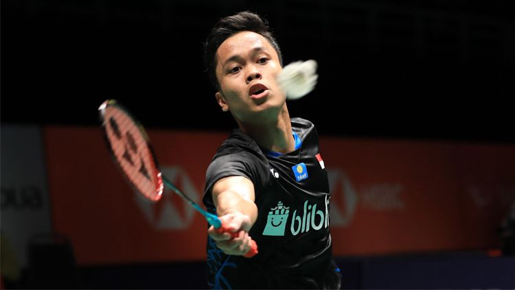 Anthony Sinisuka Ginting saat bertanding di ajang Malaysia Masters 2019, Rabu (16/01/19). Copyright: © Badminton Indonesia