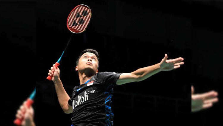 Anthony Sinisuka Ginting saat bertanding di kompetisi Malaysia Masters 2019, Rabu (16/01/19). Copyright: © Badminton Indonesia