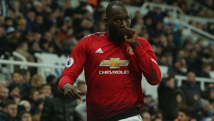 Selebrasi Pemain Manchester United, Romelu Lukaku Copyright: © The Sun