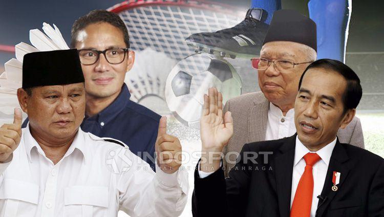 Prabowo-Sandi vs Jokowi-Amin Copyright: © Eli Suhaeli/INDOSPORT