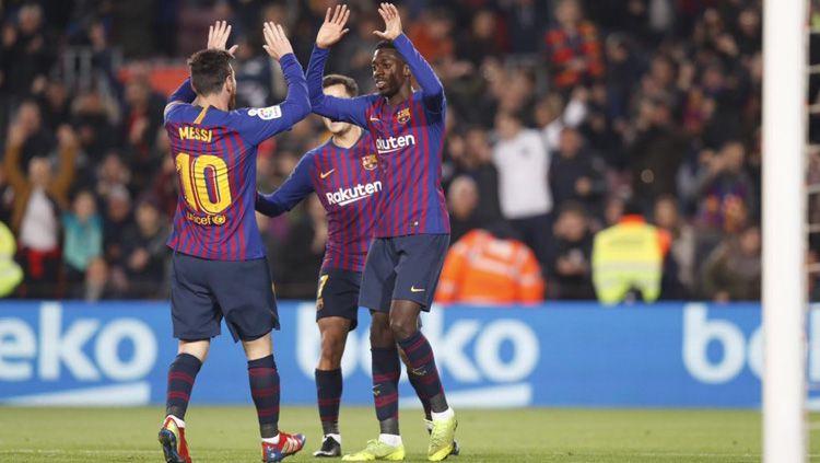 Ousmane Dembele dianggap tidak memiliki sikap yang baik sehingga membuat pihak Barcelona muak terhadapnya. Copyright: © Twitter/@tobiasram1r0