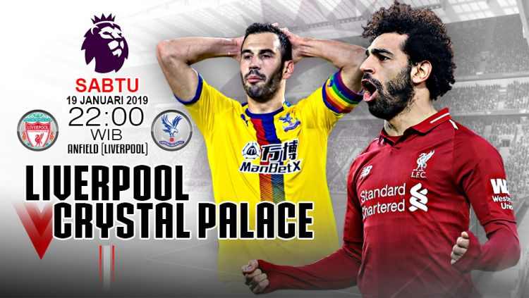 Link live Streaming Liga Primer Inggris Liverpool vs Crystal Palace. Copyright: © Indosport.com