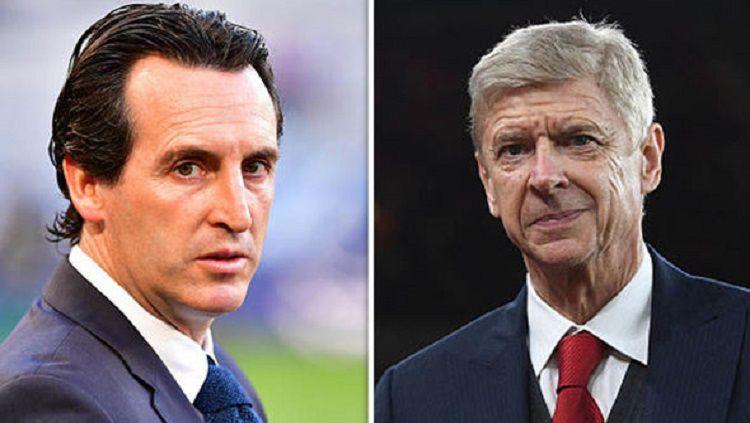 Pelatih dan mantan pelatih Arsenal Copyright: © Daily Express