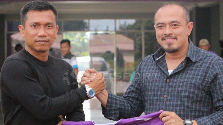 Widodo Cahyono Putro resmi diperkenalkan Persita Tangerang sebagai pelatih barunya Copyright: © Petrus Manus Da' Yerimon/INDOSPORT