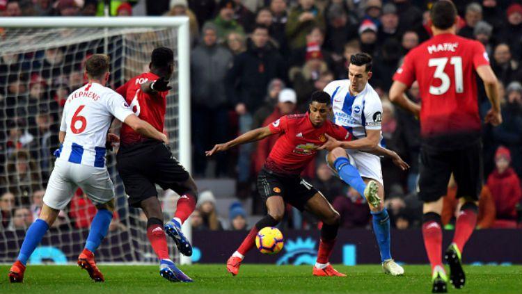 Manchester United vs Brighton. Copyright: © INDOSPORT
