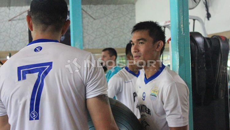 Zalnando dan Vescara saat menjalani latihan bersama Persib Bandung Copyright: © Arif Rahman/INDOSPORT