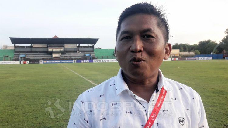 Januar Herwanto, Manajer Madura FC. Copyright: © Ian Setiawan/INDOSPORT