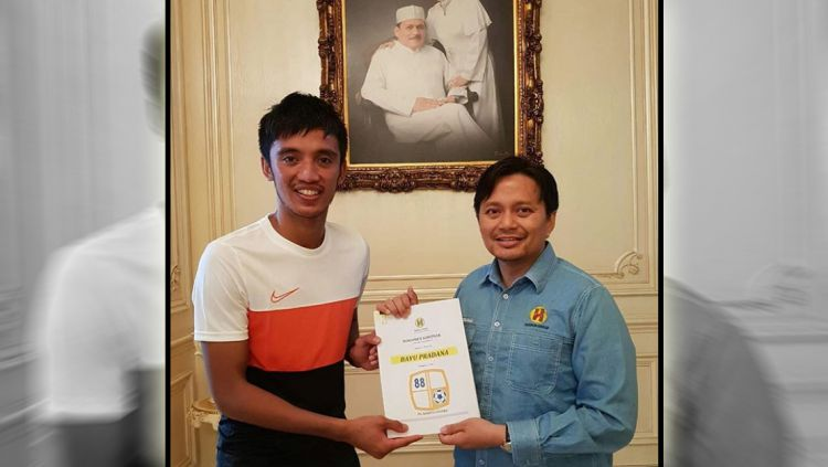 Bayu Pradana resmi ke Barito Putera. Copyright: © Instagram@psbaritoputeraofficial