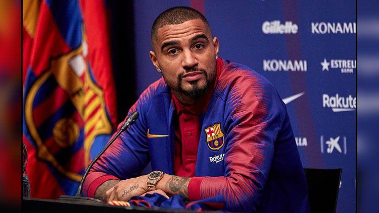 Kevin-Prince Boateng, pemain anyar Barcelona yang dipinjam dari Sassuolo. Copyright: © Getty Images