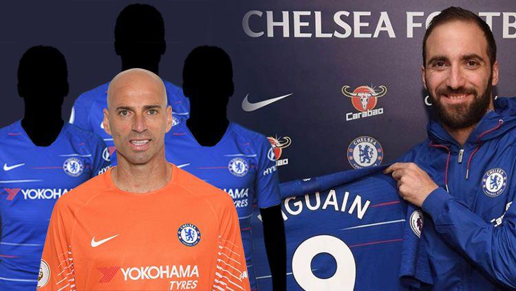 Higuain harus waspada, empat pemain ini jadi bukti pesepak bola Argentina selalu gagal di Chelsea Copyright: © INDOSPORT