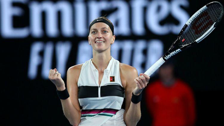 Petra Kvitova saat berlaga di Australia Terbuka 2019. Copyright: © Getty Images