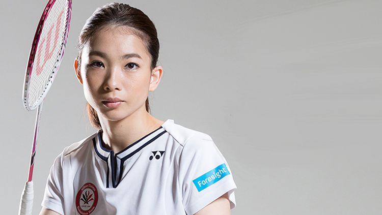 Pebulutangkis Misaki Matsutomo menciptakan rekor pertandingan terlama bersama Ayaka Takahashi dalam duel di Kejuaraan Dunia Bulutangkis 2019 melawan Du Yue/Li Yinhui. Copyright: © Getty Images